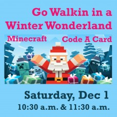 Go Walking in a Winter Wonderland with the Minecraft or Code A Card!